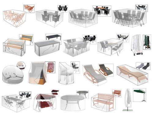Gartenmöbel Schutzhülle Sonneninsel Stuhl Bank Sonnenliege transparent #507