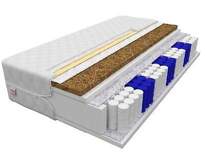 Matratze 90x200 HOME MAX 24 cm 7 Zonen Kokos Premium Taschenfederkern H3 H4 Neu
