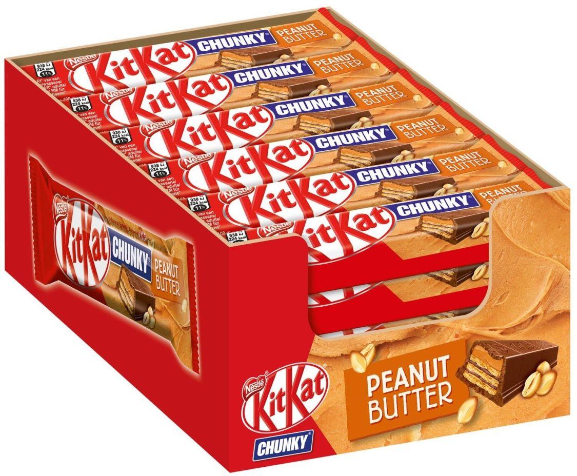 (1000g=9,87€) KitKat Chunky Peanut Butter - Limited Edition - 24 Schokoriegel