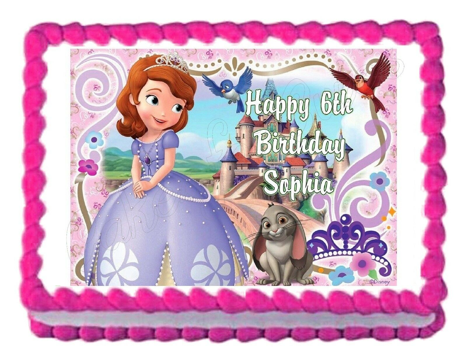 Sofia The First Princess Party Decoration Cake Topper Cake