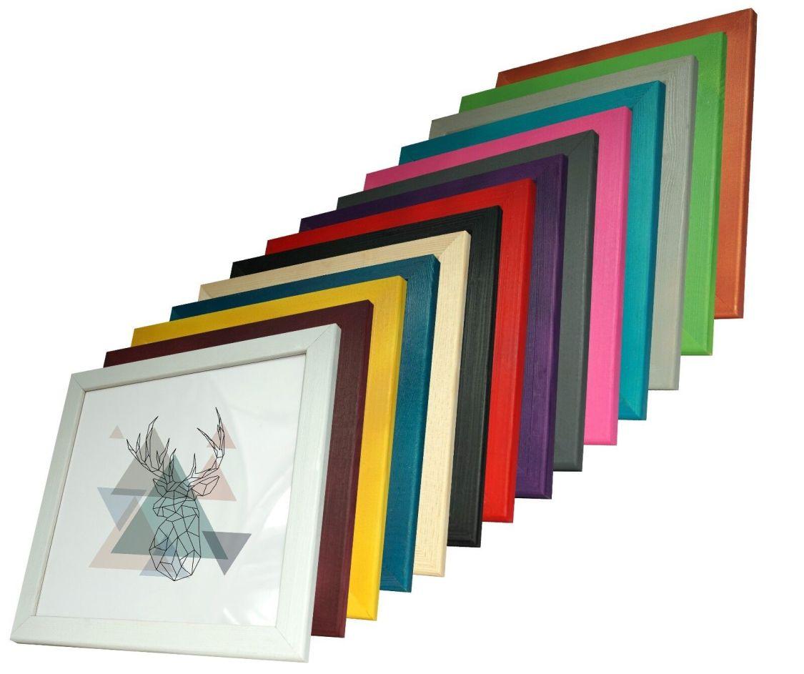 MAX Kiefer Bilderrahmen quadratisch Holz Natur 20x20 25x25 30x30 40x40 50x50 Neu