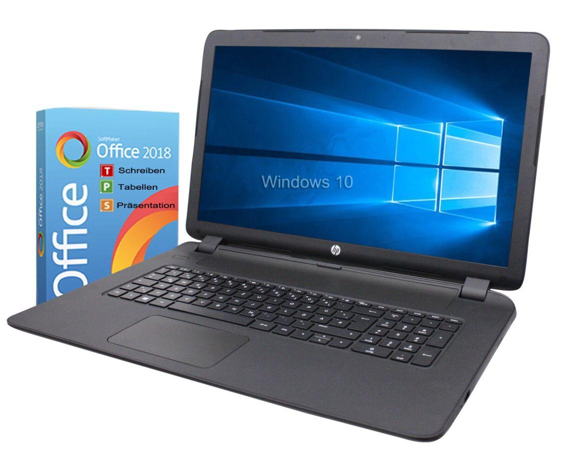 HP Notebook 17 Zoll HD+ Dual Core 2x 2,6GHz 4GB 1TB Win10 / Office 2018
