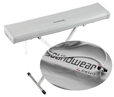 Soundwear Keyboard elastische Abdeckhaube 102 - 125 cm Silber Gummidurchzug
