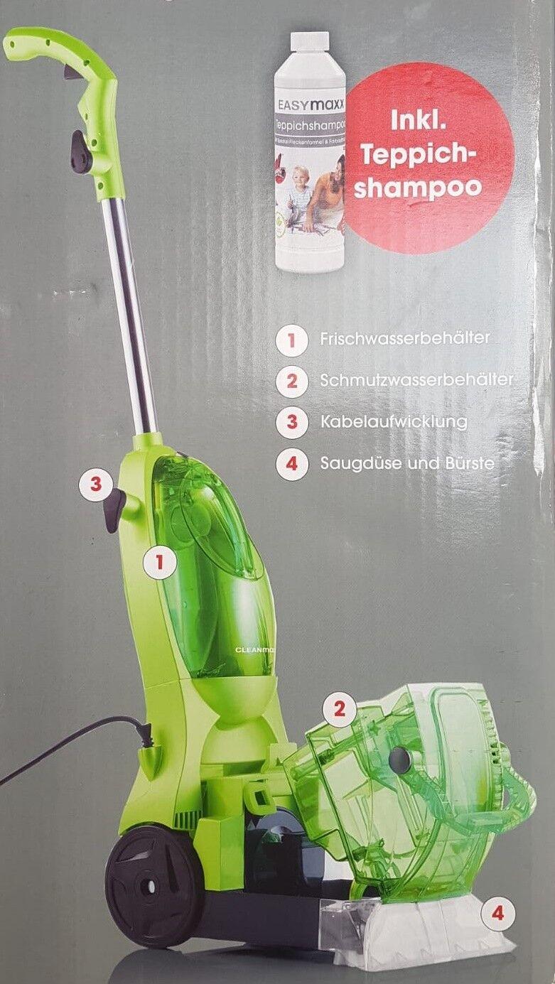 Teppichreiniger inklusiv Teppich-Shampoo 500 Watt