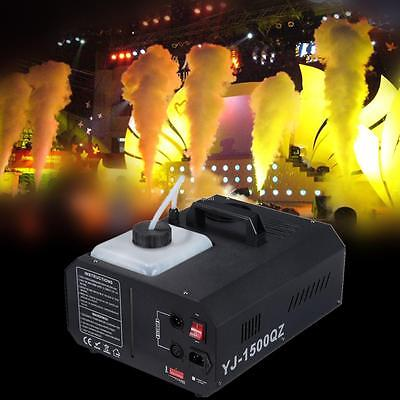 1500W Rauch Nebelmaschine Wireless Remote DJ Party DMX Vertikale Nebelmaschine