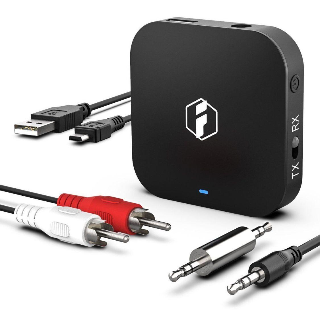 Inateck 2 in 1 3,5 mm Audio Bluetooth-Sender-Empfänger aptX HD Bluetooth Adapter