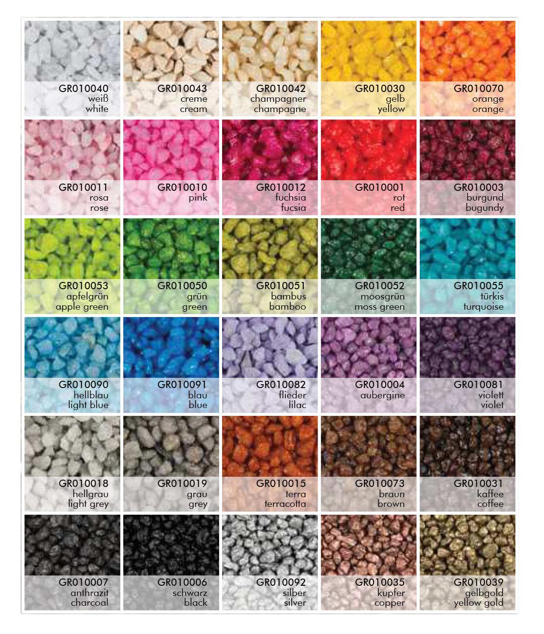 0,5 kg Dekogranulat Granulat Streudeko Farbgranulat Dekosteine Farbkies ca. 0,4L