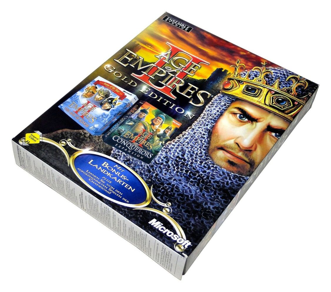 AGE OF EMPIRES II 2 GOLD EDITION von Microsoft für Windows PC in Big Box