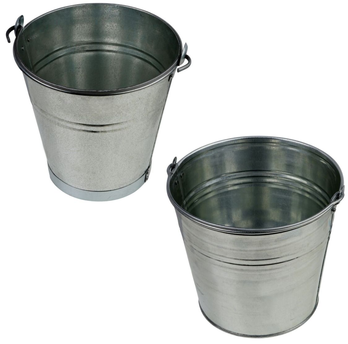 Zinkeimer Blecheimer verzinkt 5-15 Liter Wassereimer Metalleimer Dekoeimer T1