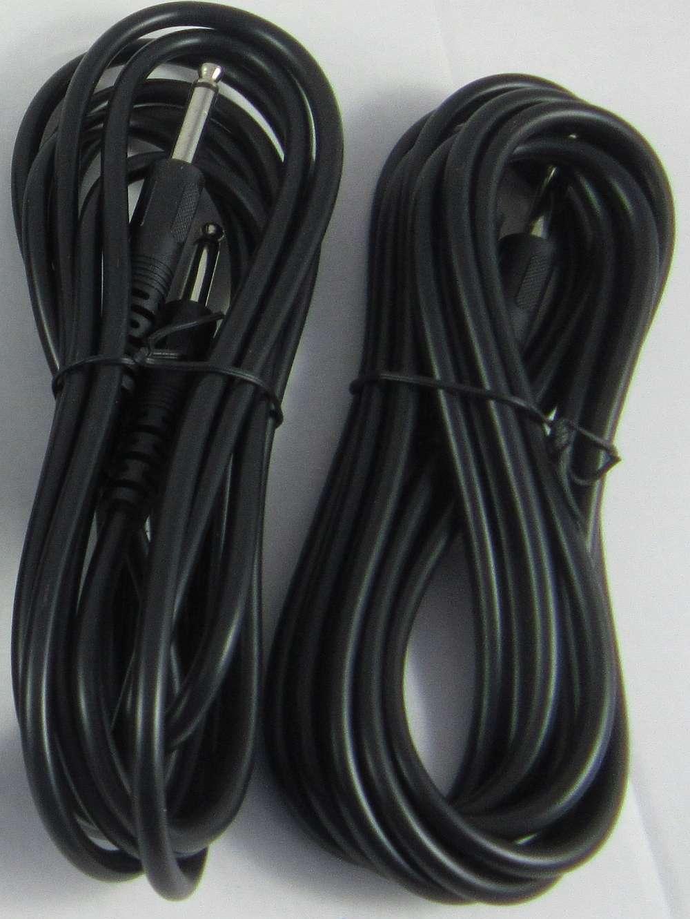 2 Stück Gitarren / Instrumenten Klinkenkabel 3m Schwarz Sonderverkauf