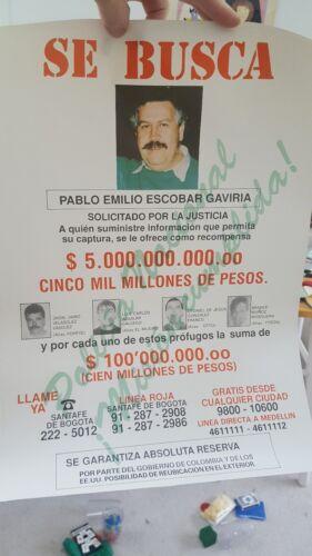 original pablo escobar wanted poster