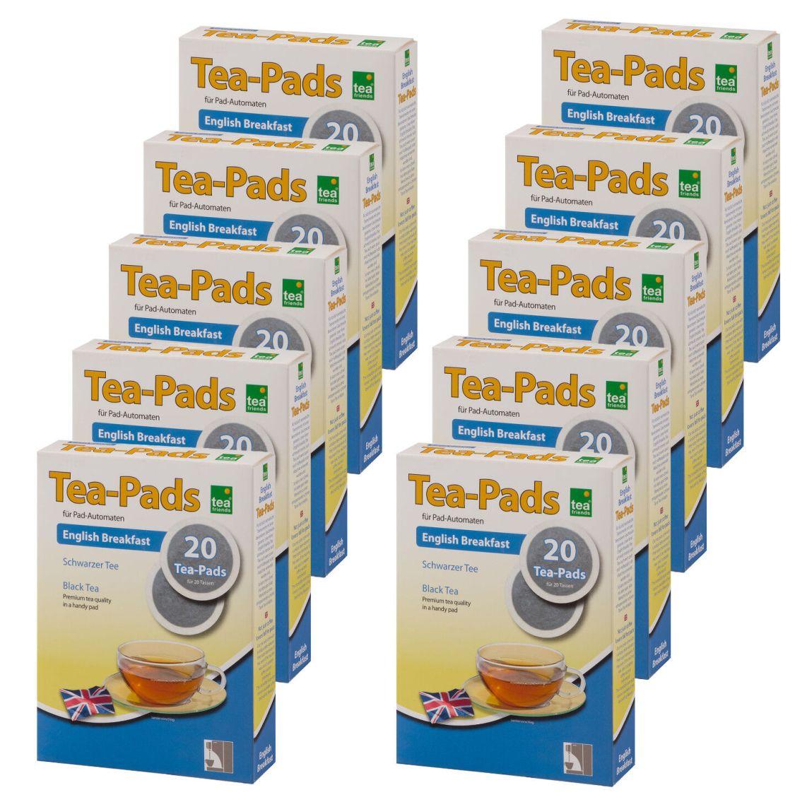 200 Tee Pads (10Pkg)  -ENGLISH BREAKFAST- Tea-Pad  Tea-Friends - Senseo geeignet