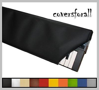 Abdeckhaube Staubschutz f. ALLE Keyboard maßgeschneidert 10 Farben Kunstleder.