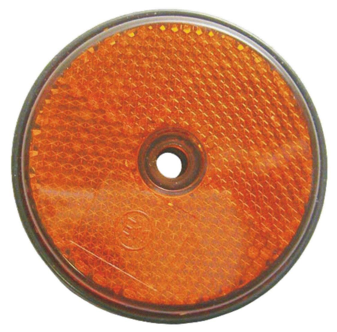 Reflektoren Rückstrahler Katzenaugen Reflektor orange Einfahrt Markierung