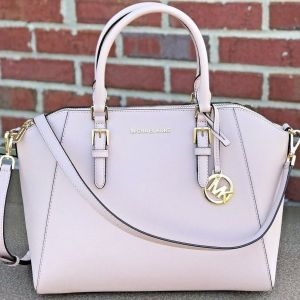 NWT MICHAEL KORS CIARA LARGE BAG BALLET PINK   SAFFIANO LEATHER PURSE SATCHEL