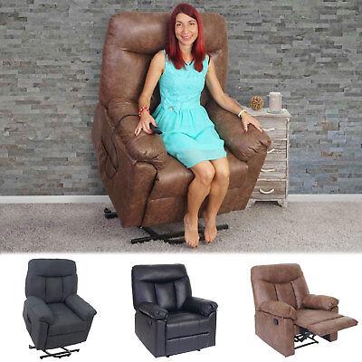 Fernsehsessel Watford, Relaxsessel Liege Sessel mit/ohne Aufstehhilfe