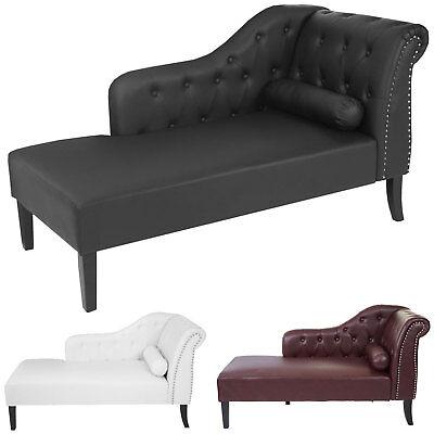 Luxus Recamiere Chesterfield, Relaxliege Loungesofa Chaiselongue, Kunstleder