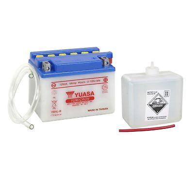 Yuasa YB4L-B Batterie 12V 4AH + Säurepack Motorrad Roller Rollerbatterie YB4LB