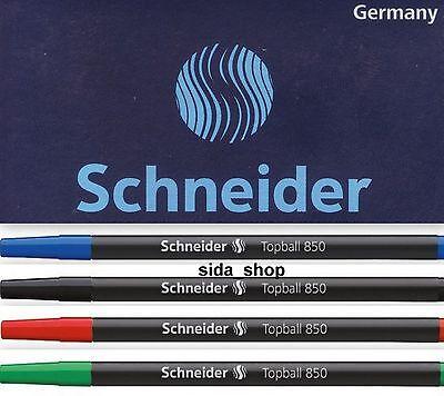 5 x Schneider Tintenrollermine Topball 850 Euro-Format 0,5 blau schwarz rot grün