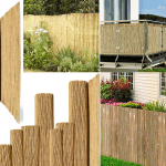 Garden Privacy Screen Thick Bamboo Reed Fence Natural Handmade Slat Panel Fence Ebay