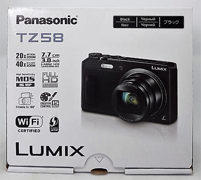 Panasonic LUMIX DMC-TZ58EG-K Super Zoom Kamera 16 MP, 24mm Weitwinkel - Neu OVP