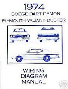 1974DodgeDartDemonWiringDiagramManual