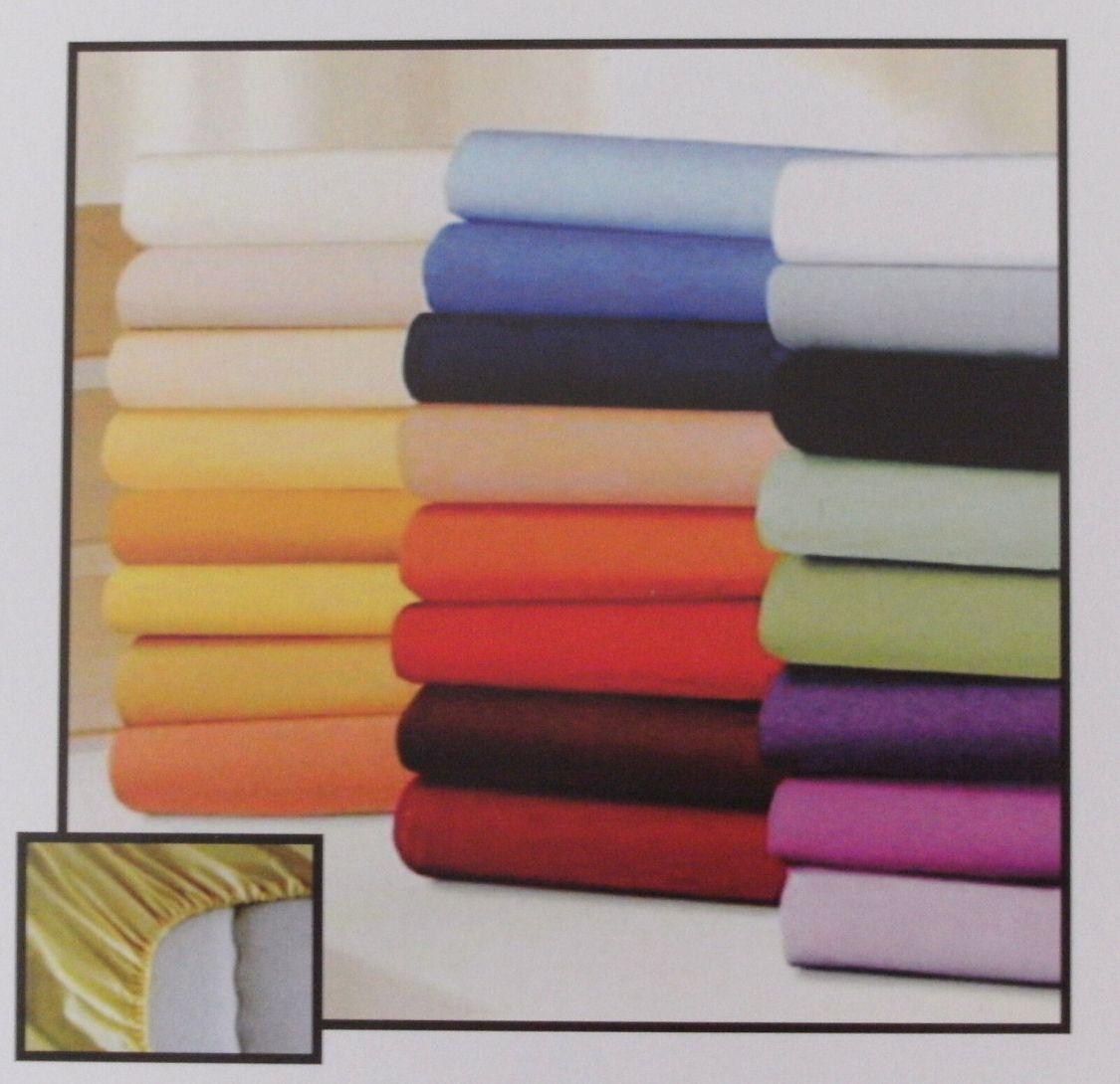 2er Set Microfaser Spannbettlaken Spannbetttücher in vielen Farben & Größen