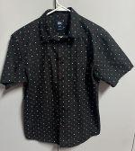 Stussey Mens Size M Black Short Sleeve Button Down Dress Shirt