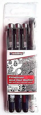 Tangle-Fineliner/Gel-Roller - Outline Set  Edding 1800/2185