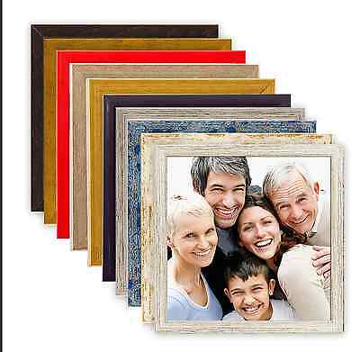 Holz Bilderrahmen quadratisch 10x10 15x15 20x20 30x30 40x40 50x50 Rahmen Bild