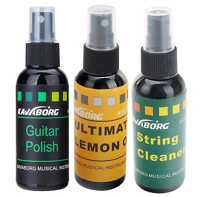 Gitarren Pflege Öl Komplett Set Politur Saiten Reiniger Griffbrett Öl Pumpspray