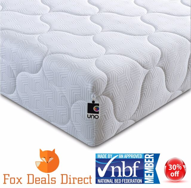 Ley Uno Deluxe 2000 Pocket Sprung Mattress 3ft 4ft6 5ft 10 Year Guarantee