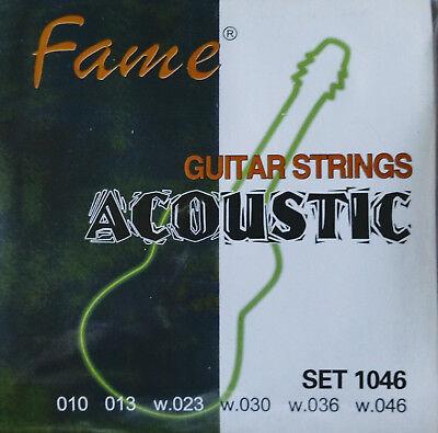 1 Satz Fame Western-Gitarren-Saiten Bronze 010-046