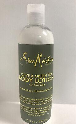 Shea Moisture Olive & Green Body Lotion W/Avacado-Anti-Aging-13oz