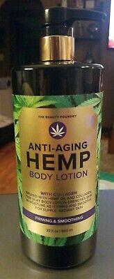 The Beauty Foundry Anti Aging HEMP Body Lotion w/Collagen JUMBO SIZE 32 oz NEW!