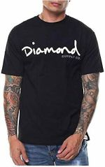 New Diamond Supply Co. OG Script Black Mens Sport T-Shirt RDAM-39