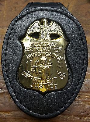 FBI Badge Cut-Out Standard Belt Clip - (Badge Not Included)