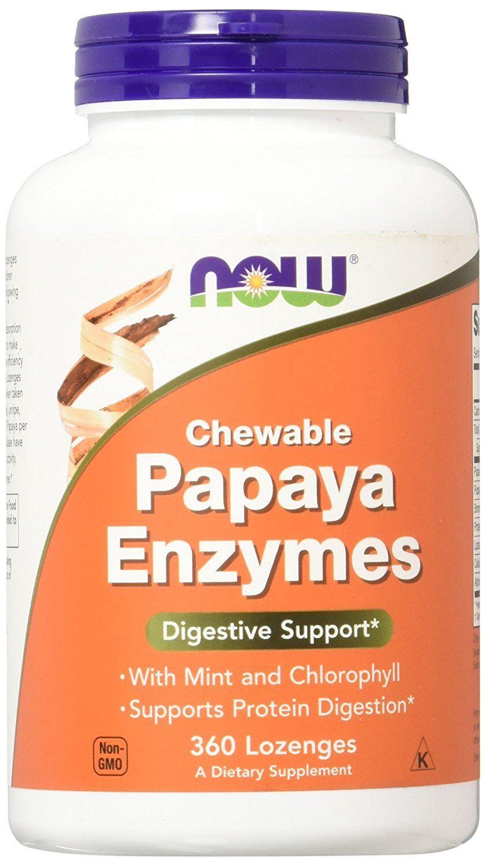NOW FOODS, PAPAYA ENZYME Chewable Minze und Chlorophyll 360Soft.NEUE EXTRAPREIS!