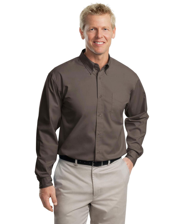 Black Shirts Authority Down Men Button Port