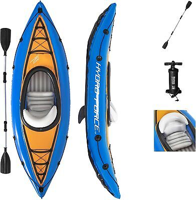 Bestway Hydro-Force Cove Champion Inflatable Kayak Set W/ Paddle, Pump, & More!
