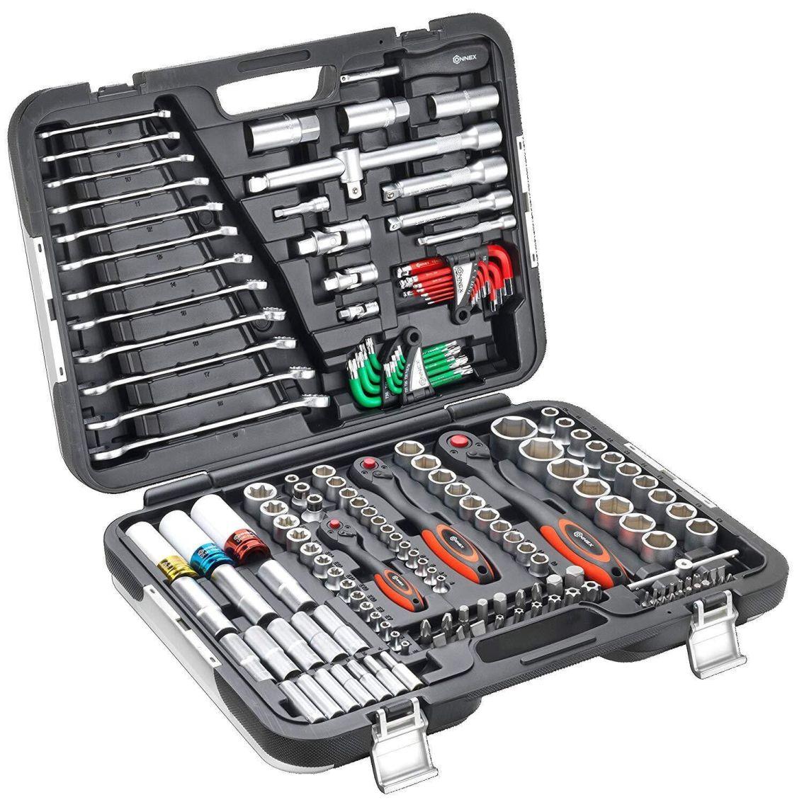Connex Premium-Werkzeugkoffer/Steckschlüsselsortiment KFZ, 160-teilig, COXBOH60