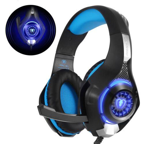 Gaming Headset für PS4 PC Xbox One LED Sound Professional Kopfhörer mit Mikrofon