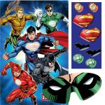Justice League Superman Batman Green Lantern Flash Comic Birthday Party Balloon