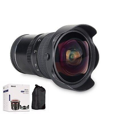 Meike 8mm F/3.5 Weitwinkel Fisheye Objektiv Multicoated Für Sony E-Mount Kameras
