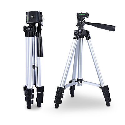 Fotostativ Videostativ 3D-Kopf ALU Kamerastativ + Tasche Handy-Halterung 1,05m