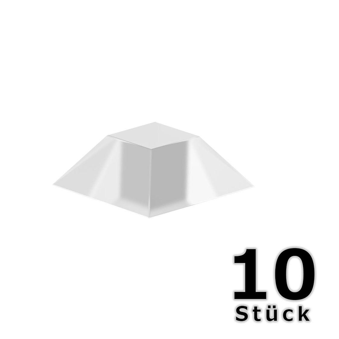 Wandpuffer 10 Stück - Transparent - 20x7 mm selbstklebende Abstandshalter aus PU