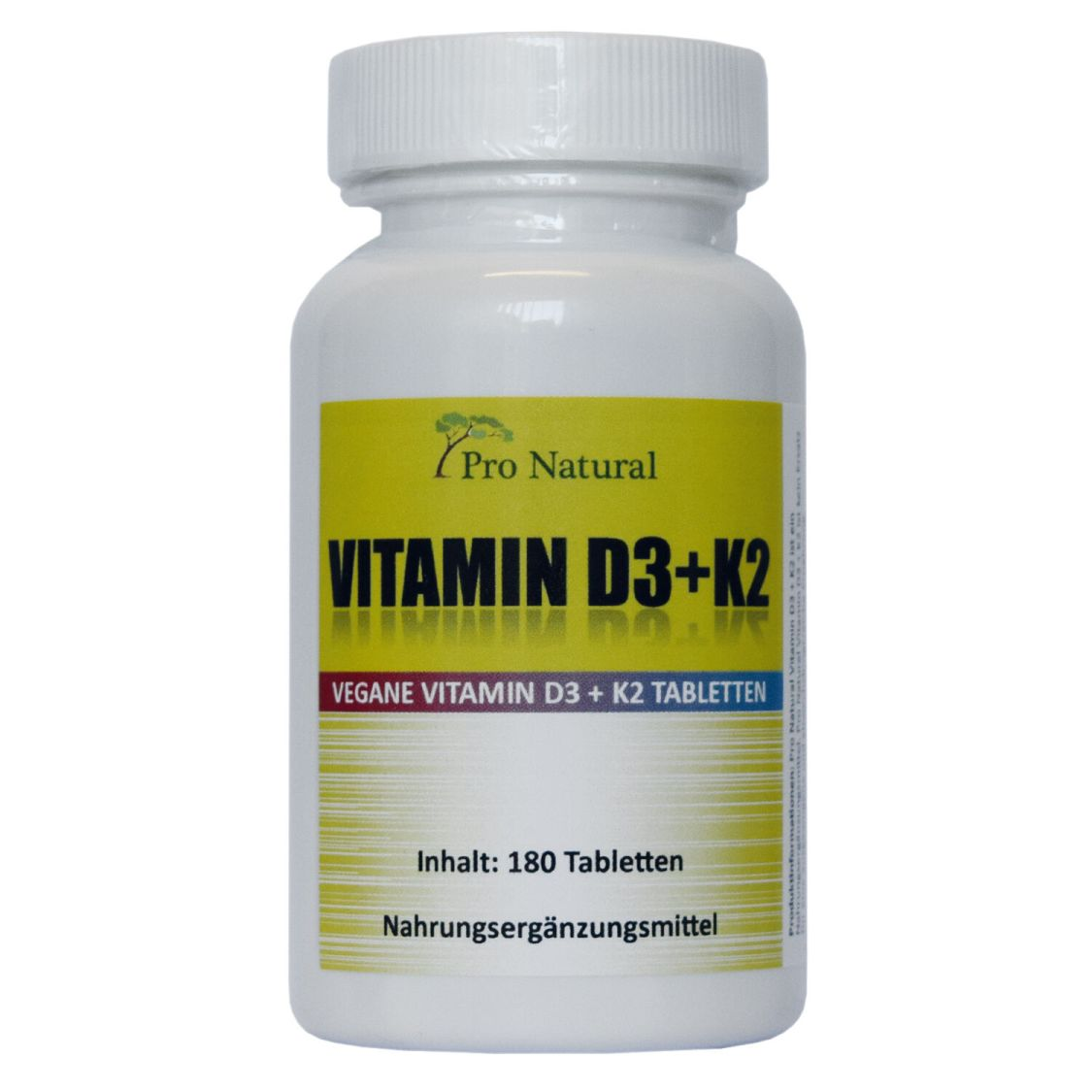 Pro Natural Vitamin K2 MK7 - 200µg + Vitamin D3 - 5.000 IE je 180 Tabletten