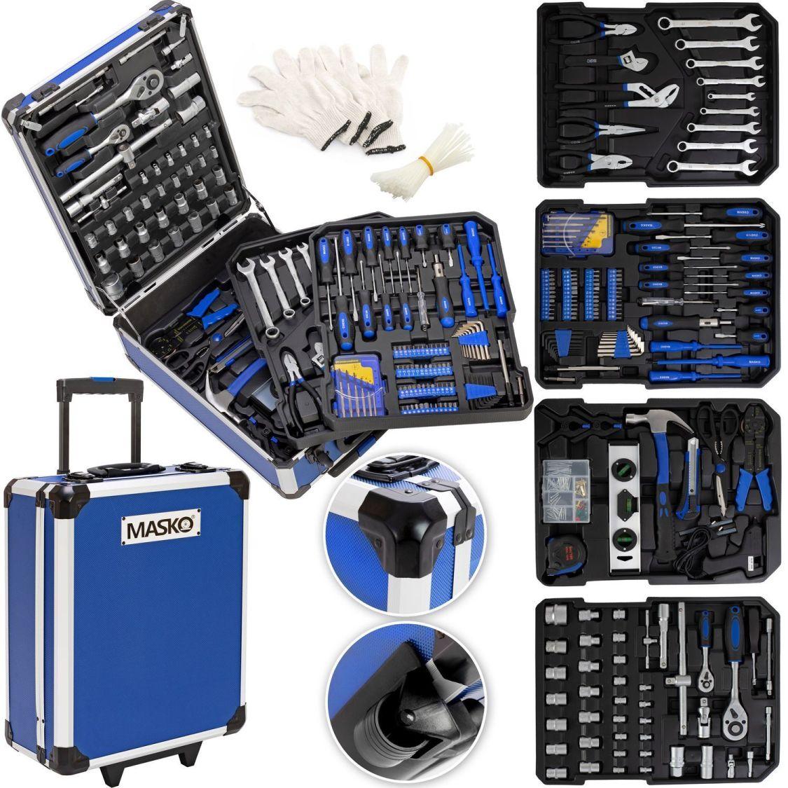 Masko® 949tlg Werkzeugkoffer Werkzeugkasten Werkzeugkiste Werkzeug Trolley