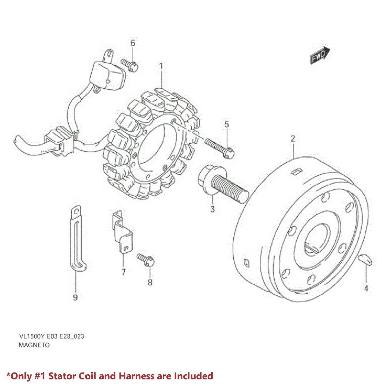 Intruder Vl Lead Wire Magneto Coil Generator Oe
