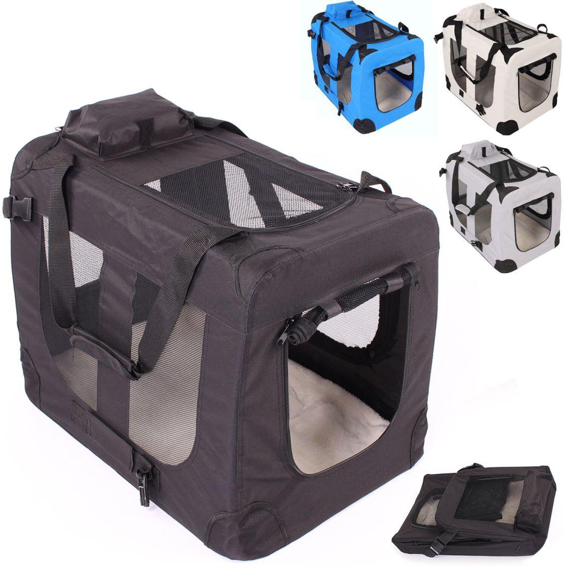 Faltbare Hundebox Hundetransportbox Katzenbox Haustierkäfig Autobox Reisebox Box
